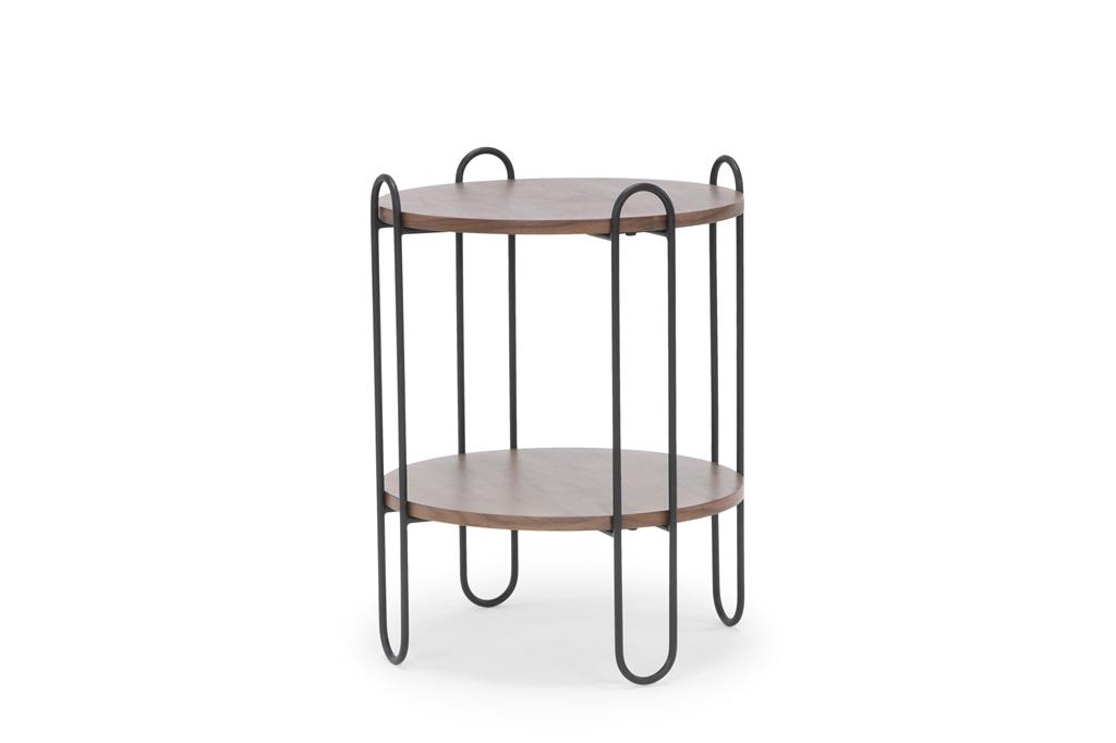 arc-1027-side-table-45x45x60cm-matt-black-steel-legs-two-top-walnut-angle