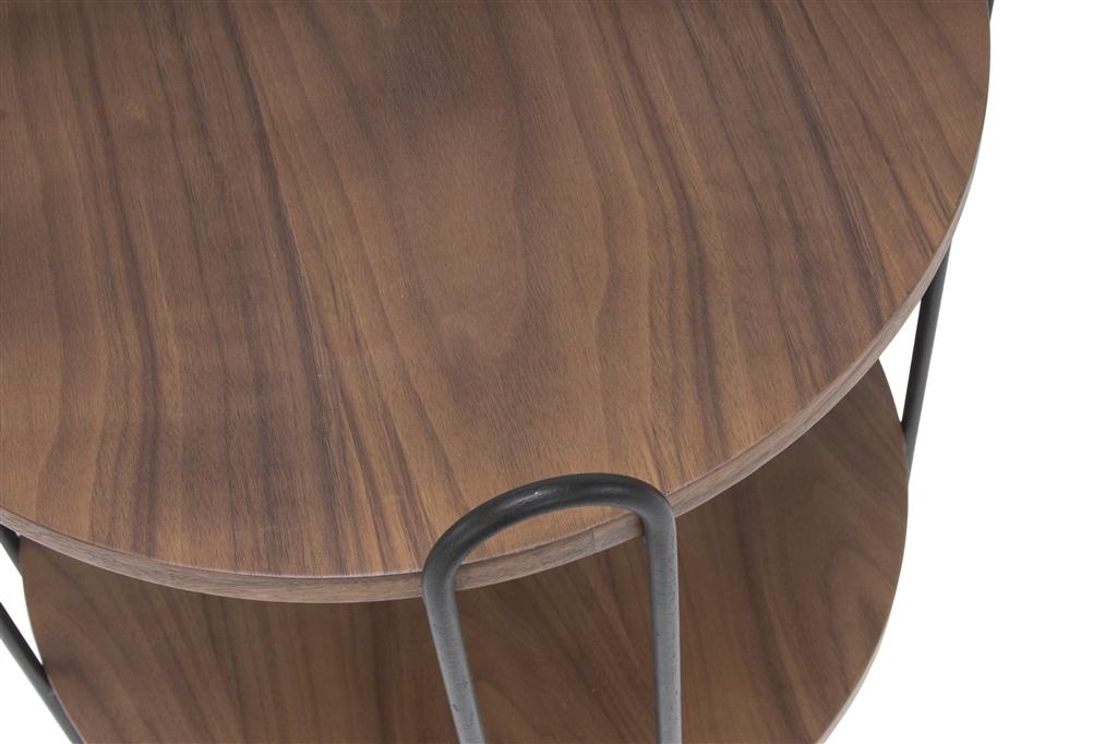 arc-1027-side-table-45x45x60cm-matt-black-steel-legs-two-top-walnut-close-up-1