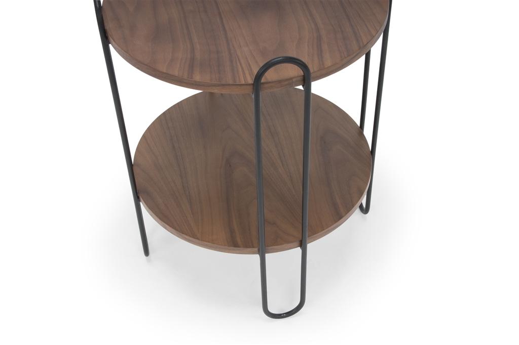 arc-1027-side-table-45x45x60cm-matt-black-steel-legs-two-top-walnut-close-up