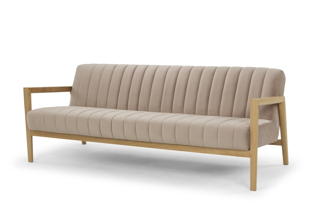 ARC 1567 - 3S, Stax 049, Natural Oak Frame & Legs, Angle