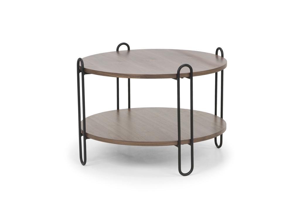 arc-n1028-coffee-table-matt-black-steel-legs-size-90cm-two-natural-walnut-table-tops-angle