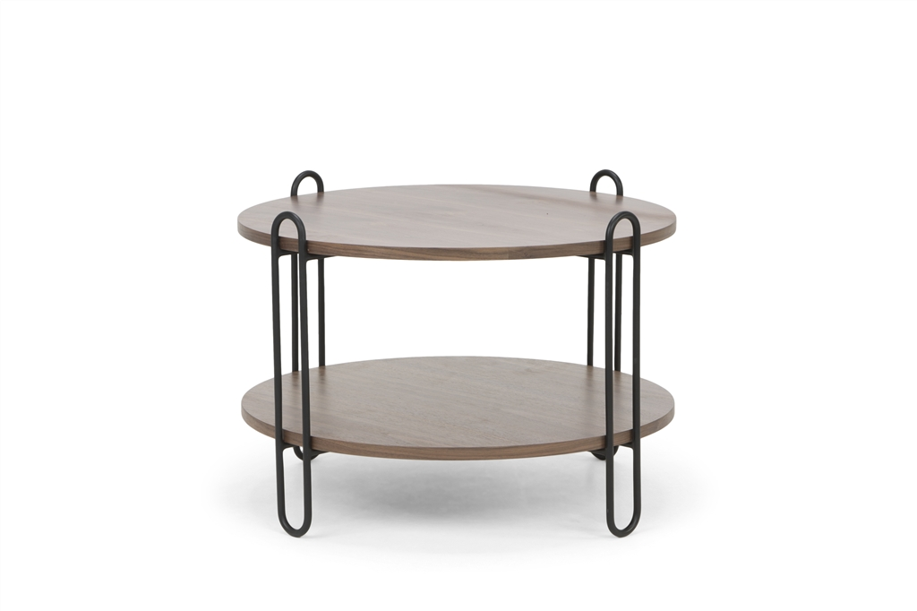 arc-n1028-coffee-table-matt-black-steel-legs-size-90cm-two-natural-walnut-table-tops-front