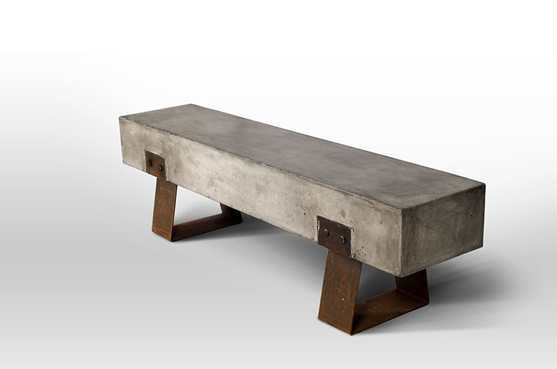lightweight concrete benches