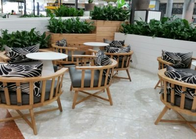 Custom lounges at Westfield Carousel