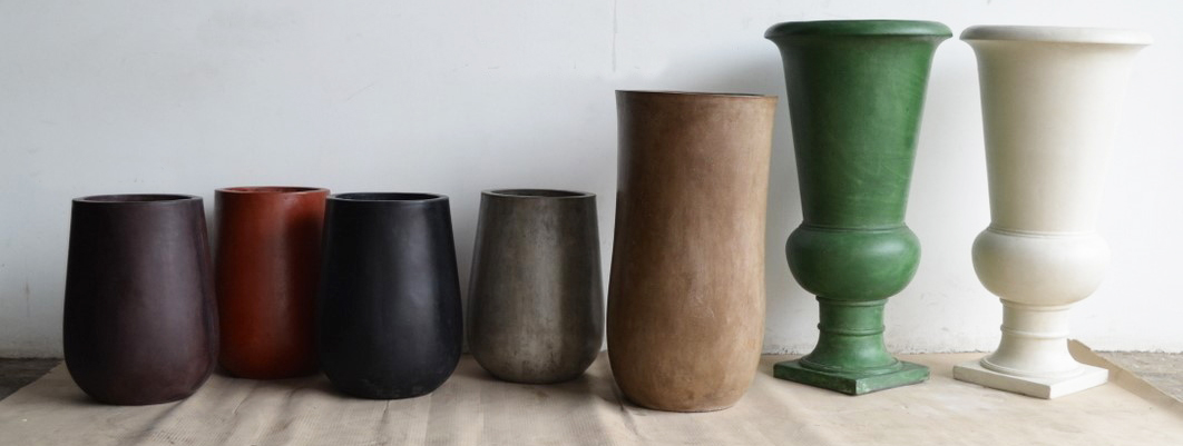 lightweight concrete pot colours