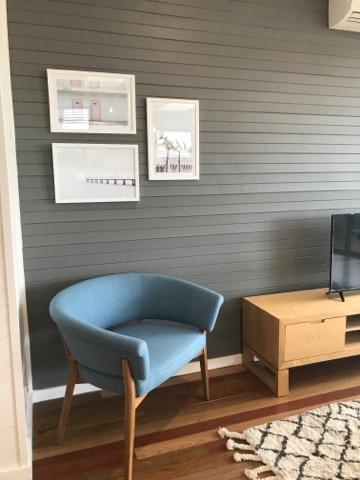 Dane arm chair in Pigeon Blue