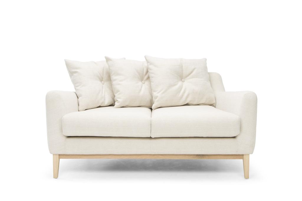 ARC 1134 - 2S, Venga 002 Cream, Natural Oak Legs, Front