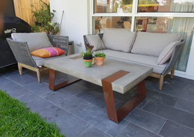 samso lounges and concrete coffee table